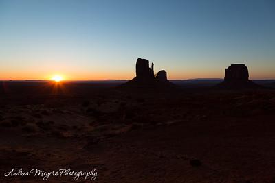 Sunrise at Monument Valley, Arizona
