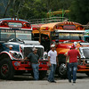 "Guatemala's famous ""chicken buses"""
