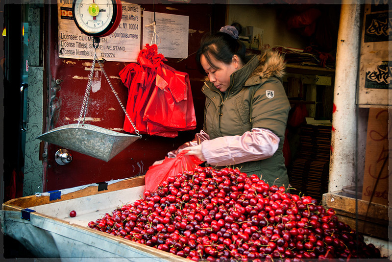 Cherries for Sale: NY City, Dec. 2011
