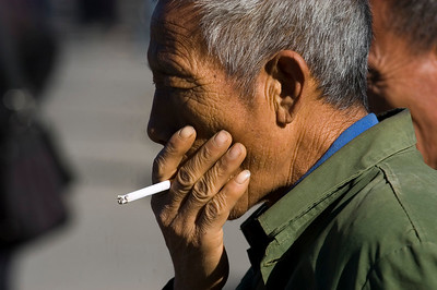 Smoking Man - Beijing, China