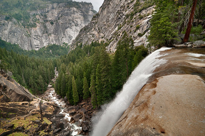 Yosemite Park | USA Early autumn view of falls and gorge