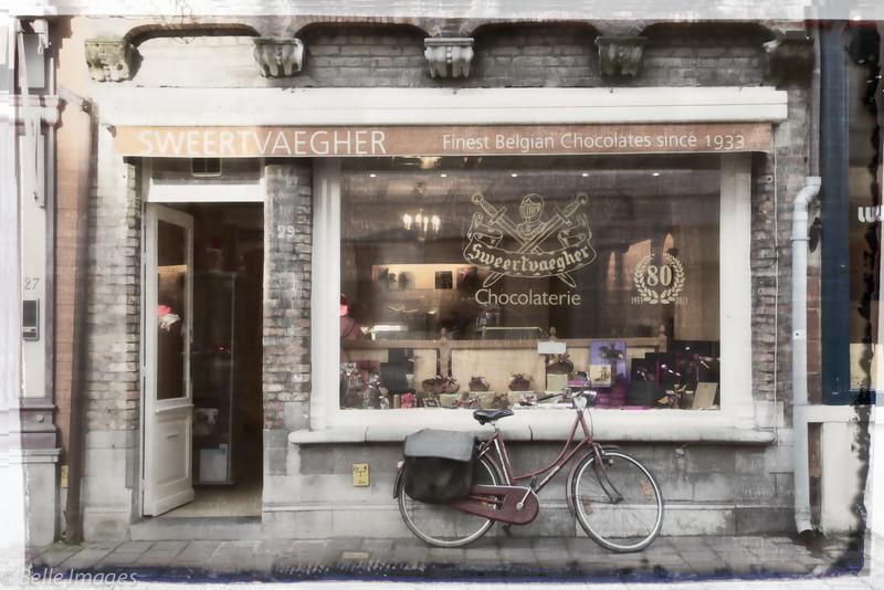 Biking in Bruges