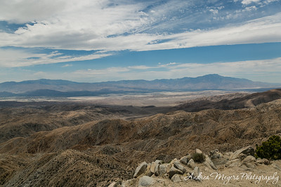 Keys View overlook, looking south toward the San Andreas Fault, Joshua Tree National Park