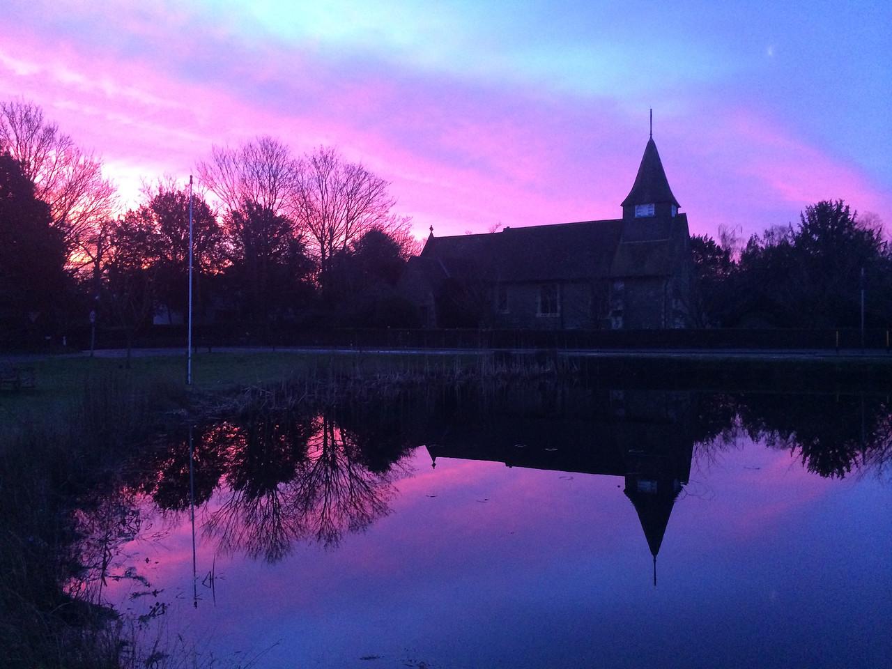 Sunrise over Buckland, Surrey, England