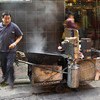 Streetvendor Kowloon, Hongkong preparing chestnuts
