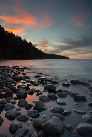 Sunset at Seal Bay Nature Park, Vancouver Island, BC