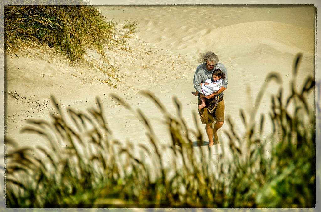 Father and Daughter: Sand Dunes of Oregon
