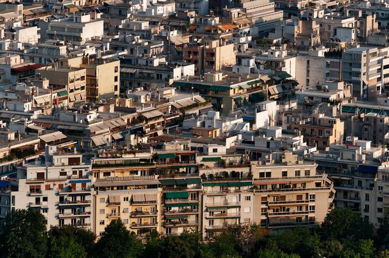 Athens | Greece Views of a densely built city