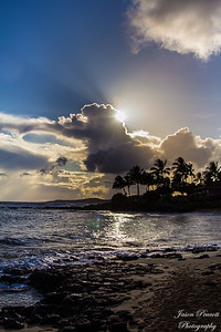 Poipu Beach Sunset