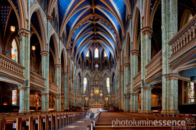 Notre Dame Cathedral, Ottawa, Canada.