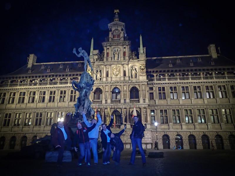 Devoxx posse at the Antwerp Town Hall