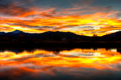 View from our favorite pond in Fraser, Colorado