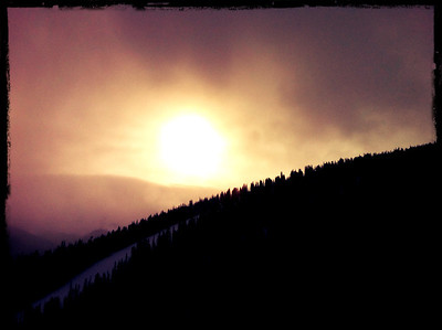 Morning View from Super Gauge lift in Winter Park, Colorado