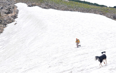 Telemark skiing at Saint Mary's Glacier, Colorado
