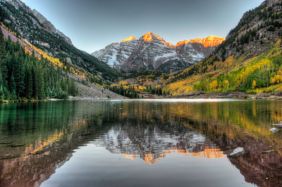 Maroon Bells at Sunrise.  I need to start waking up for all sunrises :)