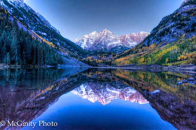 Maroon Bells just before Sunrise! It was cold, early and awesome