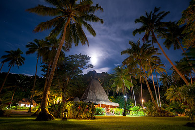 Qamea Restaurant at night