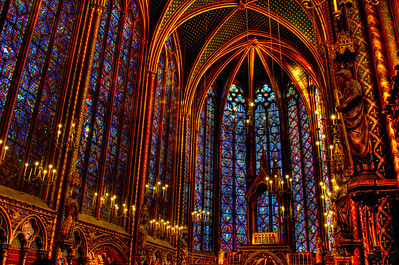 Sainte Chapelle is my Dad's favorite little chapel in Paris, France