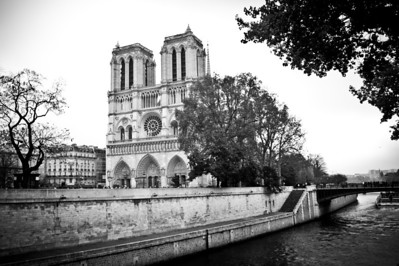 Notre Dame along the Seine River November 2011, France