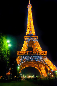 Eiffel Tower at midnight! Paris, France