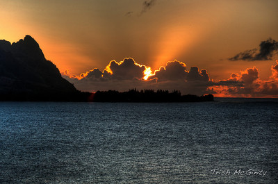 Hanalei Bay Sunset HDR