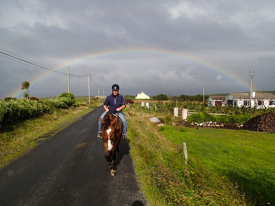 Irish Rainbows with horses and Matt Raible are my favorite thing :)