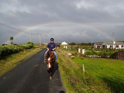 Irish Rainbows with horses and Matt Raible are my favorite thing :)