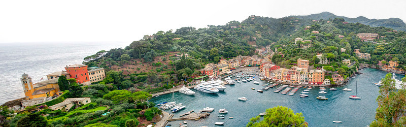 Fun Panoramic views from Castell Brown in Portofino, Italy