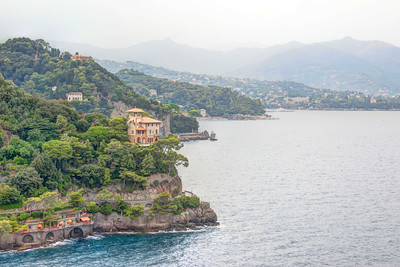 View of Portofino on the Mediterranean Sea
