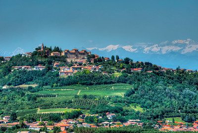 View from Barbaresco toward Alps