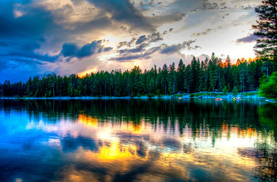Sunset at Holland Lake Lodge ~ Condon, Montana