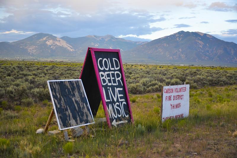 Carson Volunteer Fire District thanks Taos Mesa Brewing - kinda funny