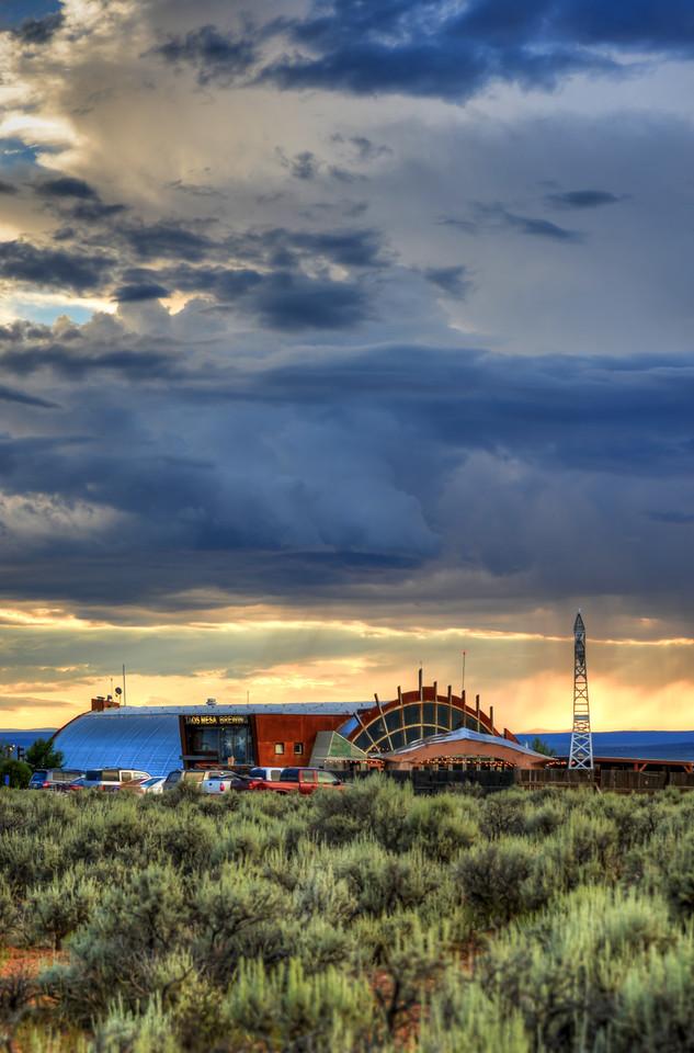 Taos Mesa Brewing Vertical July Sunset