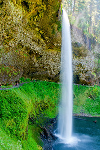 Nice hike behind the falls at South Falls in Silver Falls State Park, Oregon