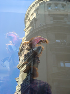 Festival Mannequin reflection in Madrid.  I love this one!