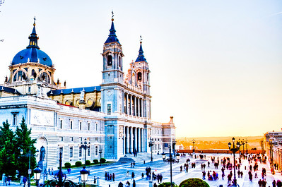 Almudena Cathedral next to the Royal Palace