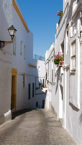 Cobblestone street, Vejer de la Frontera.  This was a beautiful town, Spain