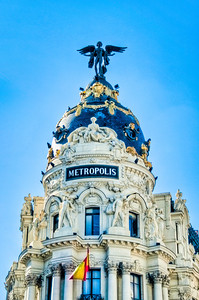 Famous Metropolis building in Madrid, Spain