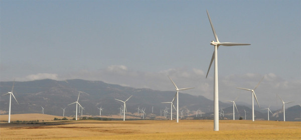 Wind turbines were everywhere in Spain!