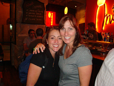 Trish and Laura at our new favorite hang out - Miranda in Madrid