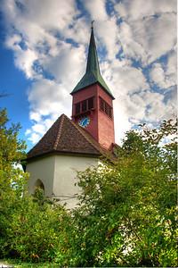 Church at Rhine Falls Switzerland