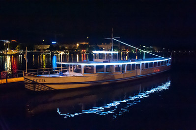 Cool boat reflection at Lake Zurich