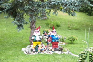 Troll lawn dudes in Gimmelwald.