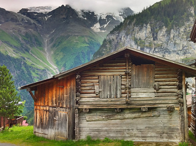 Cool older cabin in Gimmelwald Switzerland