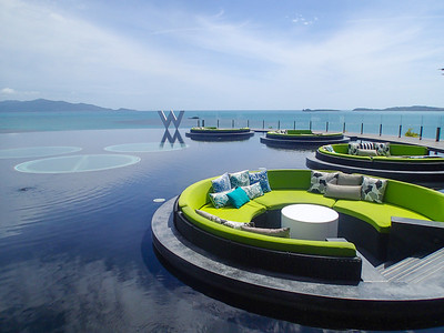 W hotel with infinity pool
