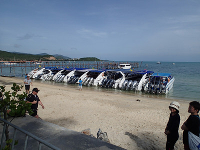 These are our boats ready to take us on our Day trip to the National Marine Park