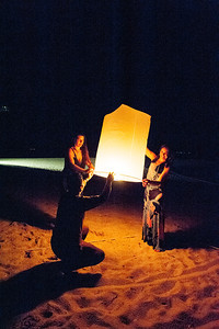 We met some nice ladies on the beach releasing a lantern