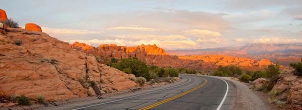 Way out in Arches, Utah.