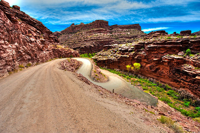 A road less traveled in Moab Utah.  I love to go 4x4 here.