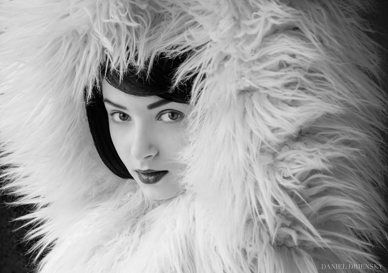 'Fur Face'<br /> Model: Ekaterina<br /> Location: Caviar Club Studios<br /> Photo © Daniel Driensky
